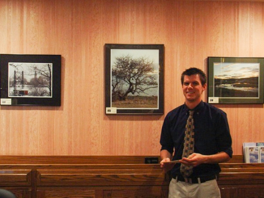 Gale's Three Pictures at Front Desk at Senator Inn, Augusta, ME