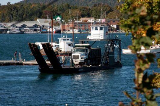 Dump Truck on Barge