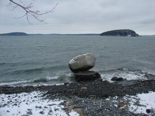 Boulder at Shore Path